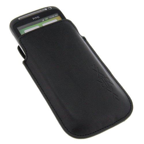 XiRRiX Etui Tasche Köchertasche Vertikaltasche Lederoptik schwarz für Lumigon T2