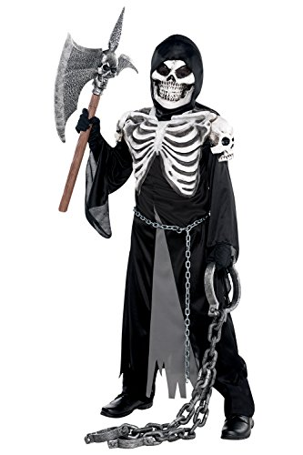 Crypt Keeper Teens Halloween Party Outfit Boys Skeleton Grim Reaper Fancy Dress