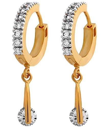 YouBella Fancy Drop Gold Plated Bali Earrings for Women