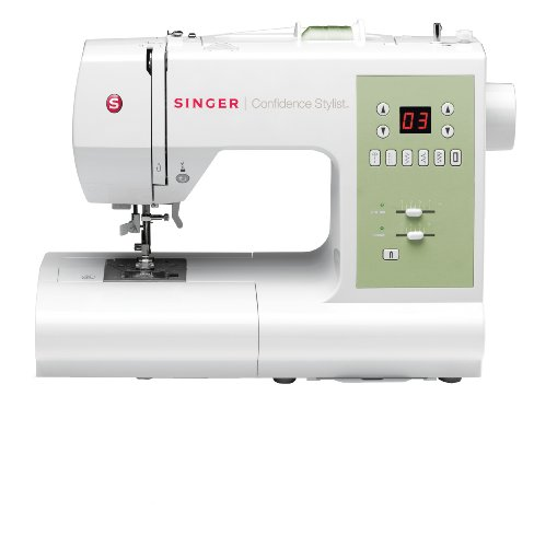 SINGER 7467S Confidence Stylist Sewing Machine with Bonus Fashion Presser Feet (Singer 7258 Walking Foot compare prices)