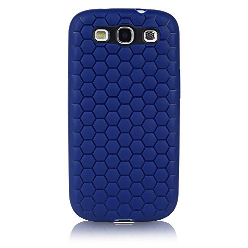 ImagineDesign Premium Beehive HoneyComb Pattern Back Case Cover for Samsung Galaxy S3 / S3 Neo (Blue)