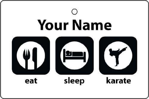 CUSTOM EAT SLEEP KARATE CAR AIR FRESHENER