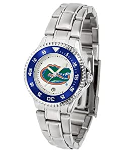 Florida Gators UF NCAA Ladies Competitor Steel Band Watch by SunTime