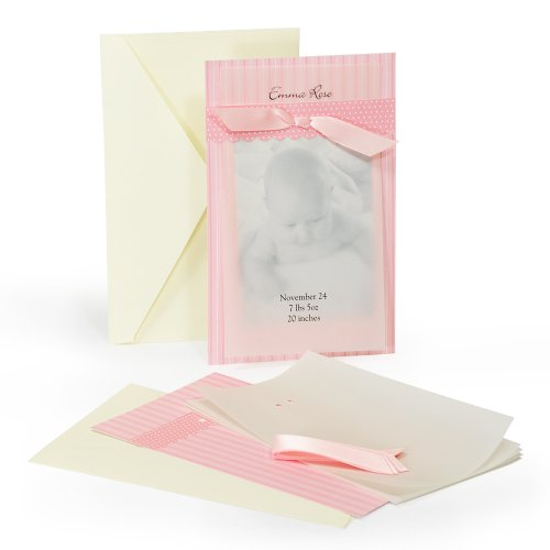 Cathy's Concepts Baby Vellum Photo Announcement Kit, Pink