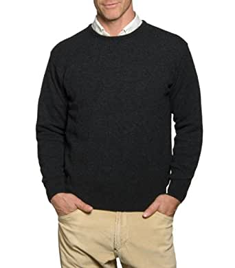 Wool Overs Pull col rond homme en laine d'agneau Anthracite XS