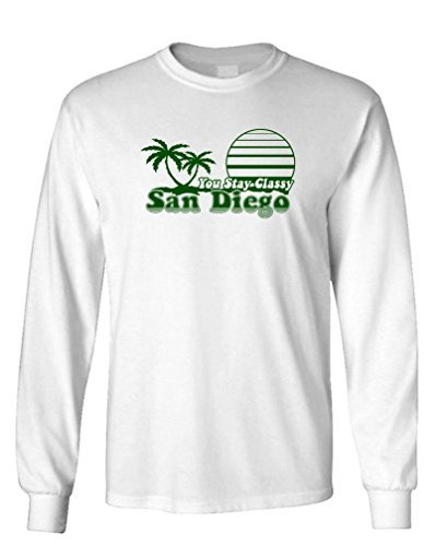 THE GOOZLER - YOU STAY CLASSY SAN DIEGO - Mens Cotton Long Sleeved T-Shirt