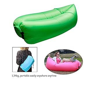 Ponffear Fashion Creative chaise longue de plage/matelas/lit gonflable Extérieur/intérieur vert Vert