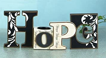 Cutout Word Hope with Tea Light Candle Holder Decoration