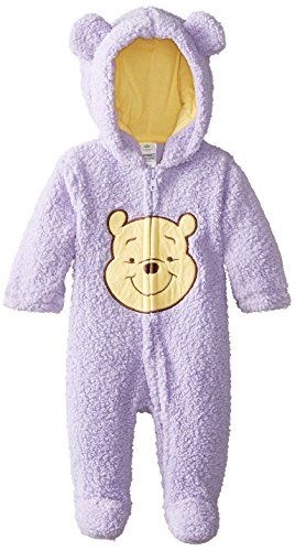 Disney Baby Baby-Girls Newborn Lilac Bud Pooh Hooded Pram, Purple, 9 Months front-373729