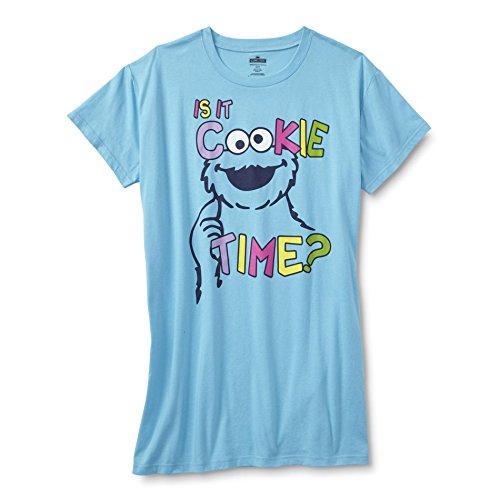 Sesame Street Cookie Monster Women's Plus Sleep Shirt Nightshirt (3X) (Kermit And Miss Piggy Costumes)