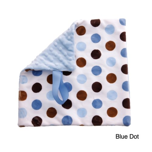 BBEmerald Pacifier Blanket, Blue Dot - 1