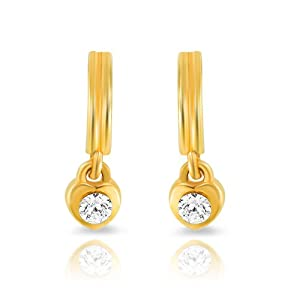 Mahi Daily wear Fashion Gold Plated Furbished Beauty Earrings of Brass Alloy with Crystal for Women ER1103704G