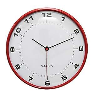 "11""H Modern Style Wall Clock in Metal 9027R"