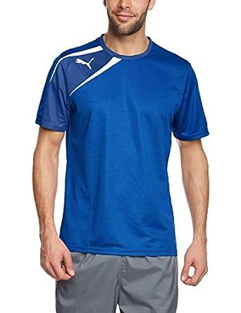 Puma Teamwear Spirit Tee Shirt Blue Mens Size Small