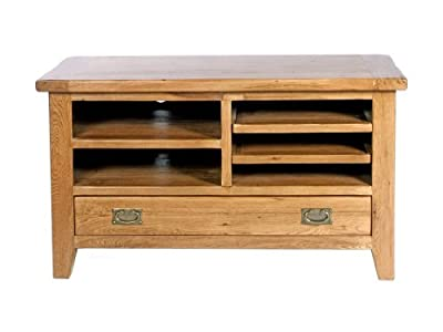 Cheap  Neo small tv stand solid oak wood rustic furniture