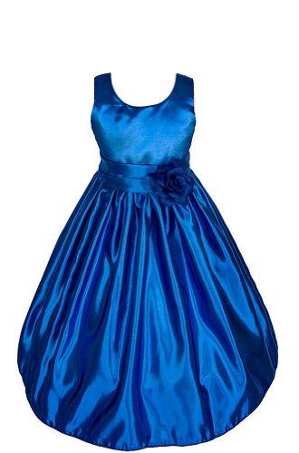 Amj Dresses Inc Girls Royal Blue Flower Girl Pageant Dress Size 6