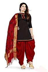 Women's Salwar Suit Dress Material of high quality(Black Color_Free Size)