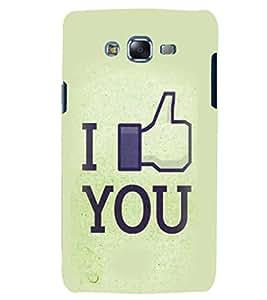 PRINTSHOPPII LOVE Back Case Cover for Samsung Galaxy J7::Samsung Galaxy J7 J700F