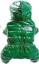 perro mascota impermeable abajo cubren la chaqueta con capucha suave acogedoras ropa caliente 1 colores 4 tamaños