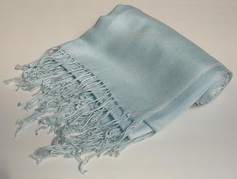Pashmina Scarf Shawl Wrap Throw Ice Blue