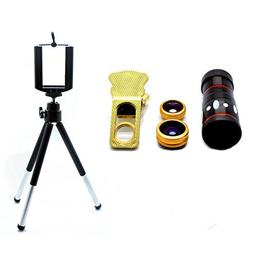4 IN 1 LENS KIT WITH 10X ZOOM + MOBILE TRIPOD UNIVERSAL