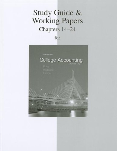 Study Guide & Working Papers Chapters  to accompany...