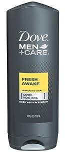 Dove Men + Care Body and Face Wash, Fresh Awake, 18 Ounce