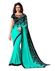 Offo Deals Partywear Traditional Sea Green Women Saree ss-1807