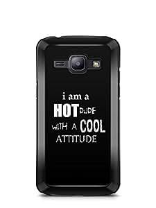 YuBingo Hot Dude with Cool Attitude Designer Mobile Case Back Cover for Samsung Galaxy J1