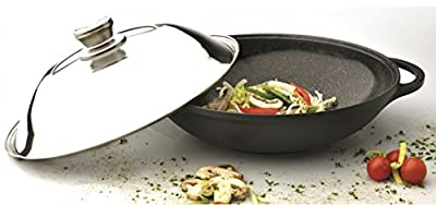 "Eurocast/Berghoff Professional Cookware 12.25"" Chinese Covered Wok with Lid"