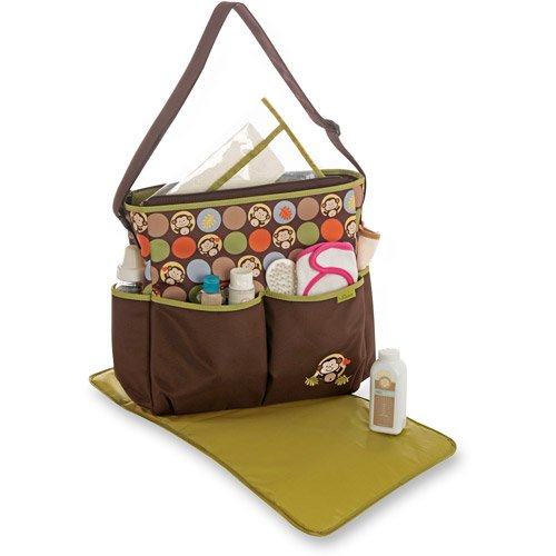 3 Piece Monkey Theme Diaper Bag - 1