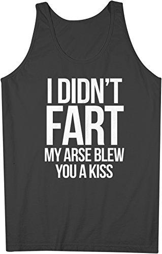 I-Didnt-Fart-My-Arse-Just-Blew-You-A-Kiss-Hombres-Camiseta-de-tirantes-Tank-Top-Negro-Medium