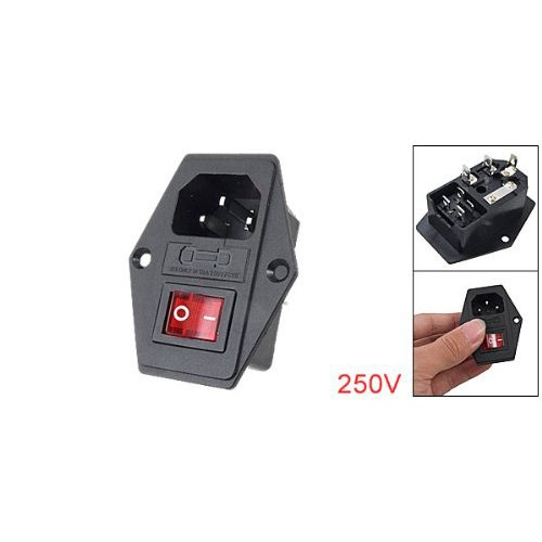 Review Inlet Module Plug Fuse Switch Male Power Socket 10A 250V 3 Pin IEC320 C14