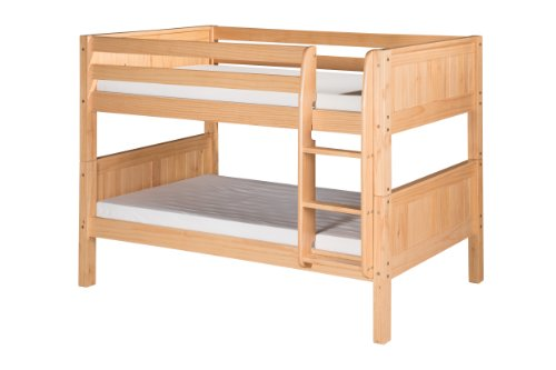 Camaflexi Panel Style Solid Wood Low Bunk Bed Twin Over
