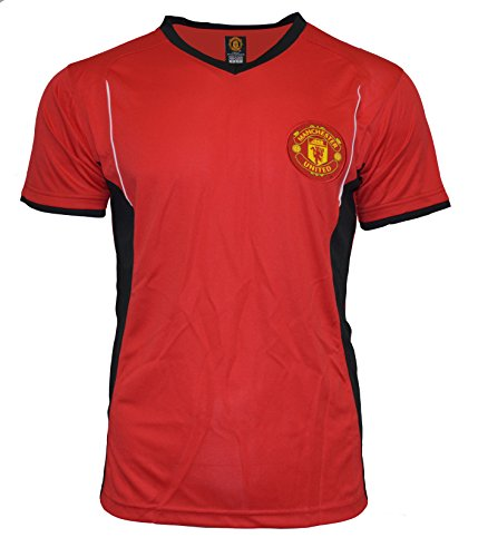 Soccer Jersey Manchester United Adult Training Performance Home Red Black (M) (Manchester United White Jersey compare prices)