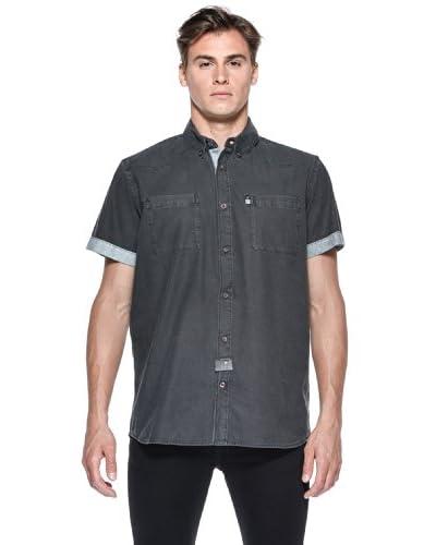 Rip Curl Camicia Waxed Ss Shirt [Nero]