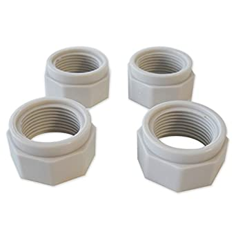 Replacement Polaris Feed Hose Mender Nut 4-Pack - D15: Pool Hoses