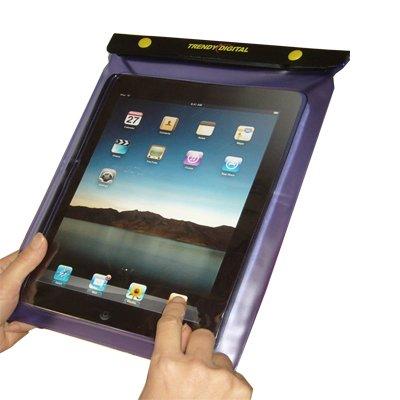TrendyDigital WaterGuard Waterproof Case, Waterproof Cover for Apple iPad, Purple Border
