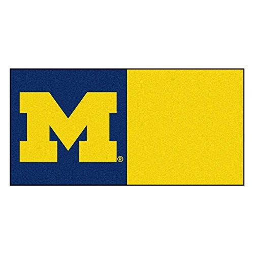 Fanmats Ncaa University Of Michigan Wolverines Nylon Face Team Carpet Tiles