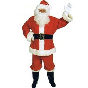 Santa Claus Suit (Basic) 10pc Complete Adult Costume Size Standard