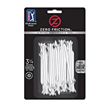 "Zero Friction 3 1/4"" 3 Prong Performance Golf Tees - Pack of 60 (White)"