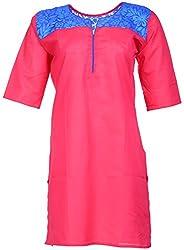 Anshul Textile Women's Cotton Regular Fit Kurta (Maroon)