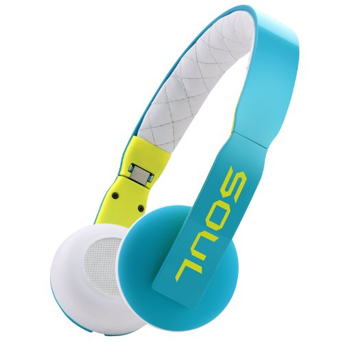 Soul Loop Ultra Lightweight On-Ear Headphones (Blue)