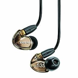 【国内正規品】SHURE カナル型 高遮音性イヤホン SE535 メタリックブロンズ SE535-V-J