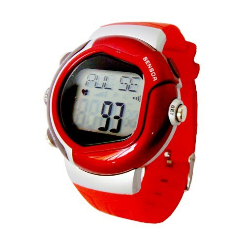Cheap Heart Rate Pulse Watch with Calories Counter, Stopwatch and Alarm (Red) (B005EK3OJK)