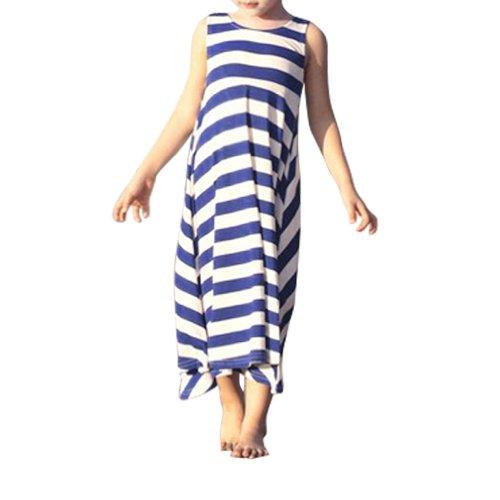 Little Hand Little Girls' Stripes Tank Tops Bohemian Beach Maxi Dresses front-989250