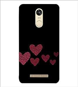 PrintDhaba Hearts D-2422 Back Case Cover for XIAOMI REDMI NOTE 3 PRO (Multi-Coloured)