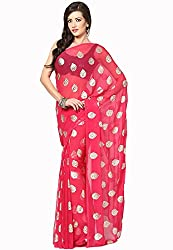 Soundarya Ethnicwear Chiffon Foil Print Saree for Women (RS23)