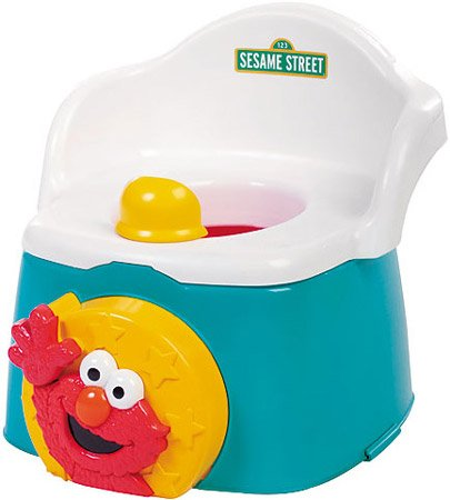 Sesame Street 1-2-3 Learn With Me Potty Chair -Elmo All Star