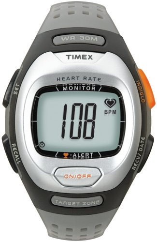 Timex Sport Personal T5G971F7 Unisex Analog Heart Rate Monitor with Grey Resin Strap